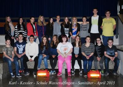 Schülersanitäter 2015