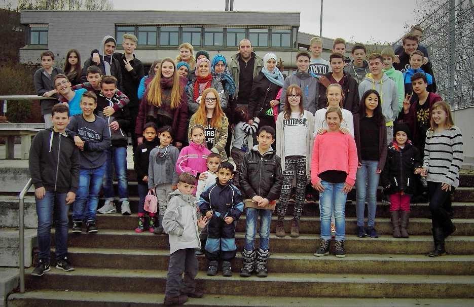 Flüchtlingsfamilien zu Gast an der Karl-Kessler-Schule