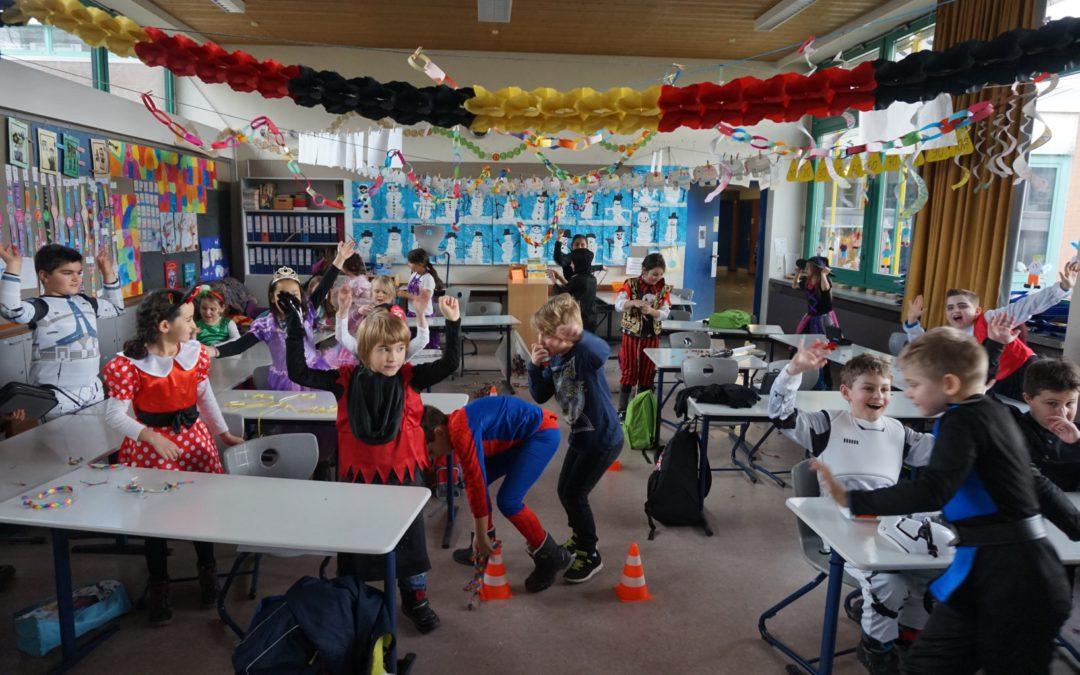 Närrisches Treiben in der Grundschule der KKS