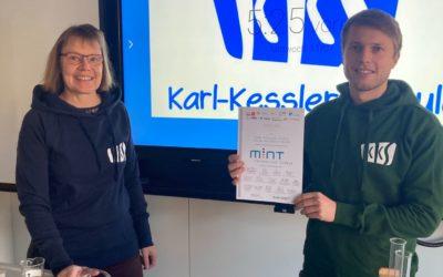 Karl-Kessler-Schule erneut als MINT-freundliche Schule ausgezeichnet