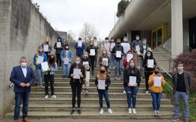 Zahlreiche Preisträger an der KKS beim Schülerwettbewerb des Landtages
